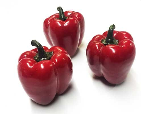 Artificial Red Bell Peppers Set of 3 or 6