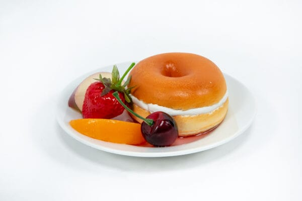 Fake Bagel & Cream Cheese with Fake Fruit