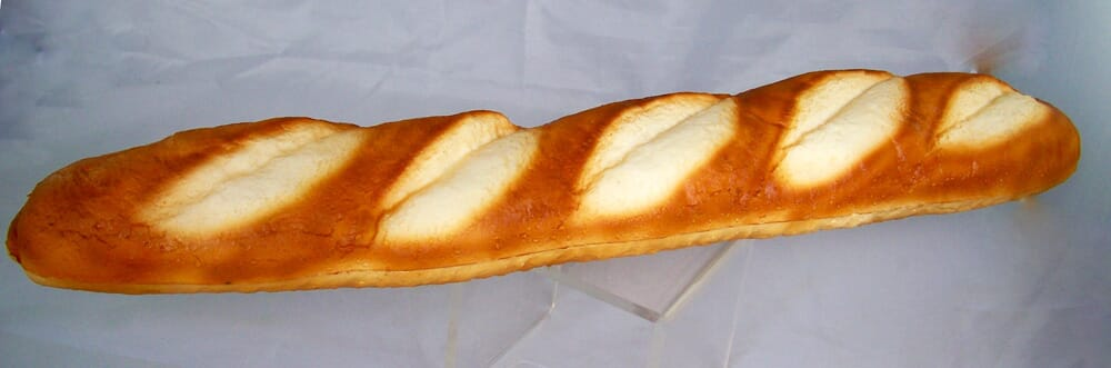 Artificial French Baguette Loaf