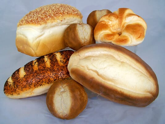 Small Assorted Artificial Bread & Roll Package - 9 Piece Set of Breads & Rolls