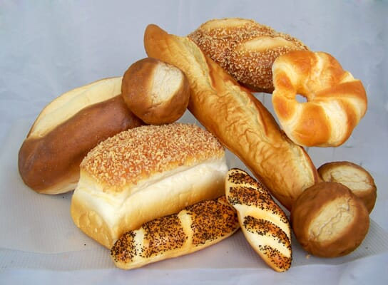 Large Assorted Fake Bread & Roll Package - 11 Piece Set of Breads & Rolls