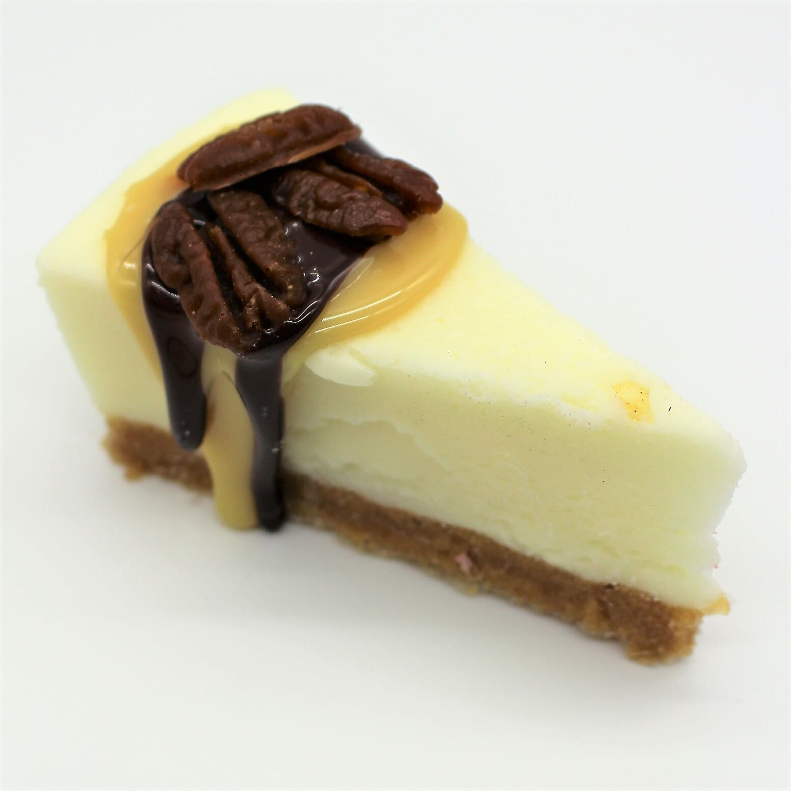 Fake Slice of Turtle Cheesecake