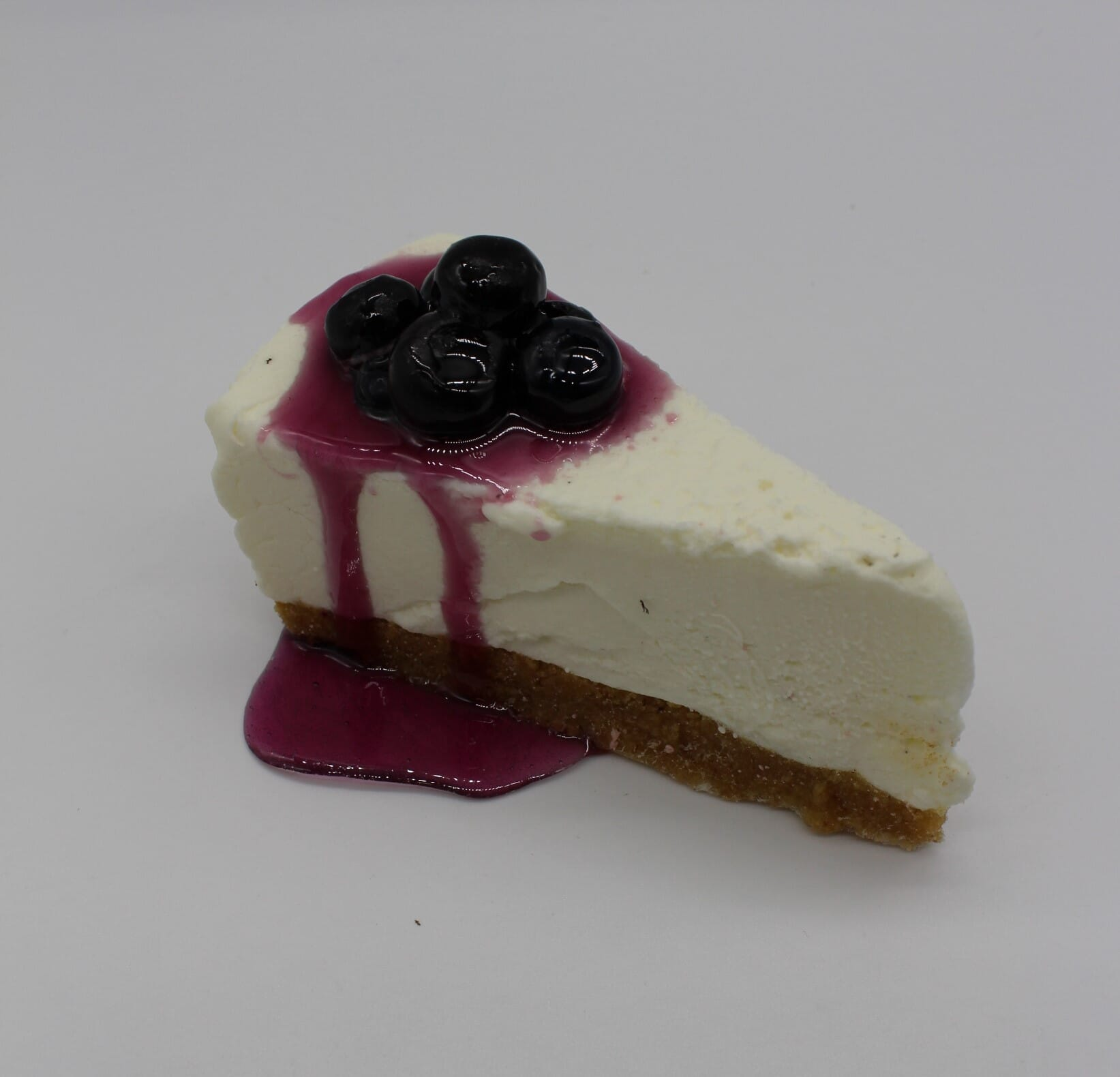Fake Slice of Cheesecake with Blueberries