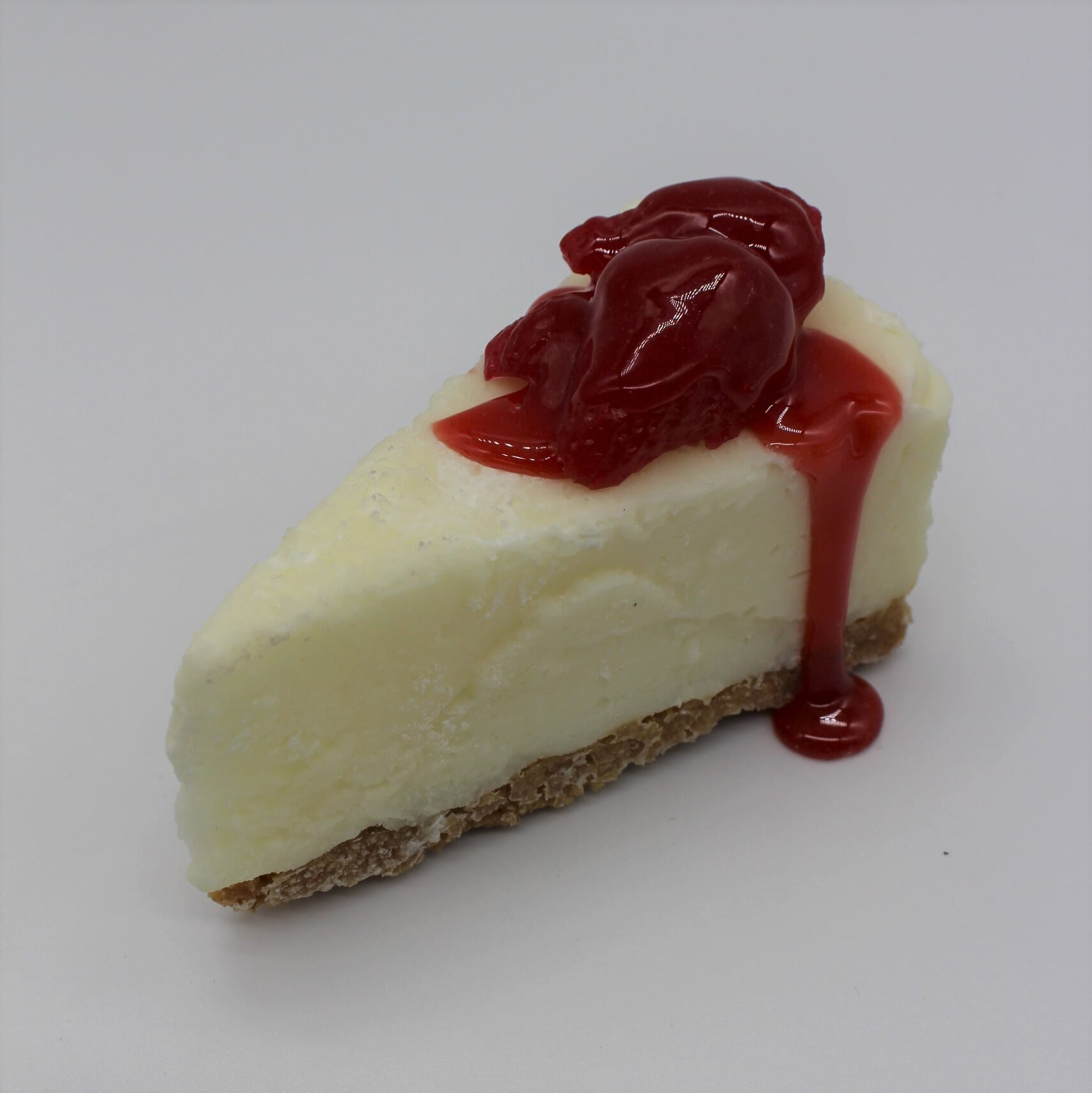 Fake Slice of Cheesecake with Strawberries