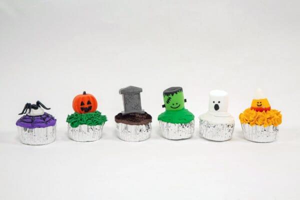 Fake Halloween Cupcakes