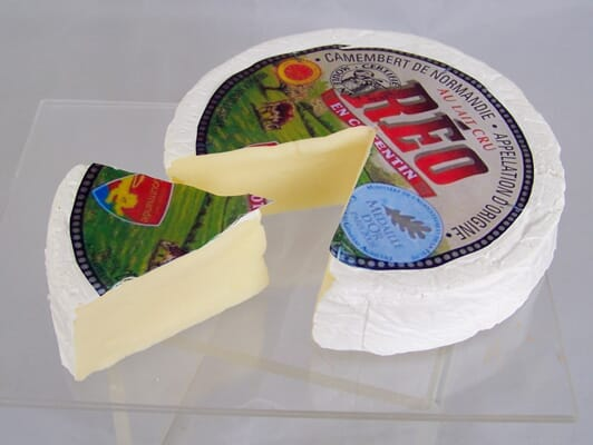 Fake Camembert Cheese Round with Wedge