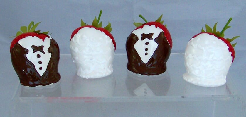 Bride & Groom Dipped Strawberries