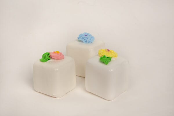 Fake Large Vanilla Petit Fours (Set of 3)