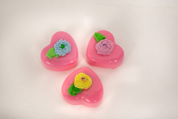 Fake Strawberry Heart Petit Fours (Set of 3)