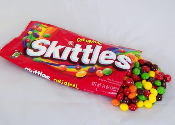 Spilled Bag of Fake Skittles