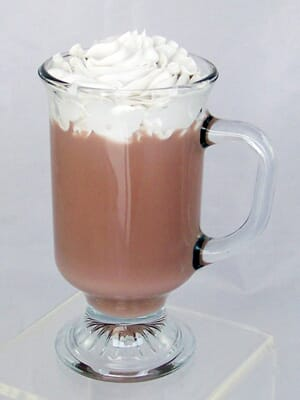 Fake Hot Chocolate-Glass Filled with Artificial Hot Chocolate