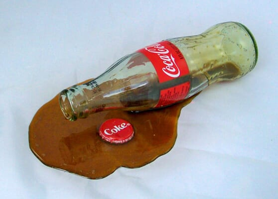 Fake Spilled Bottle of Coke
