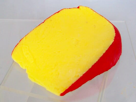 Fake Edam Cheese Wedge