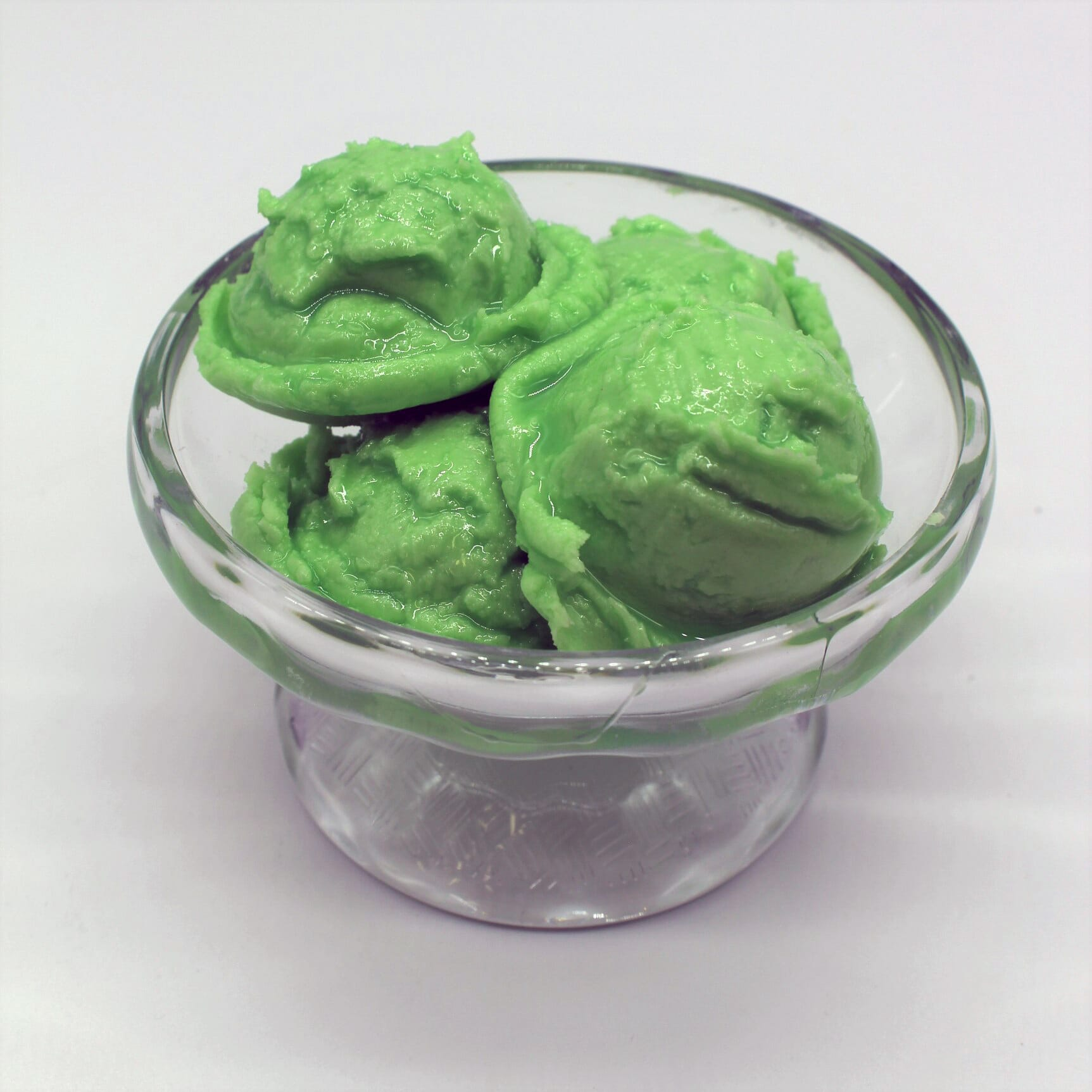 Fake Lime Sherbet in a  Bowl