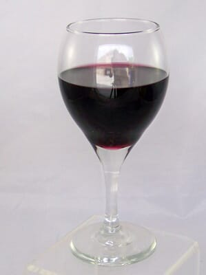Fake Glass of Red Wine