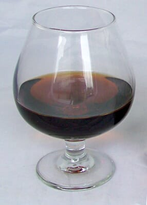 Fake Glass of Brandy