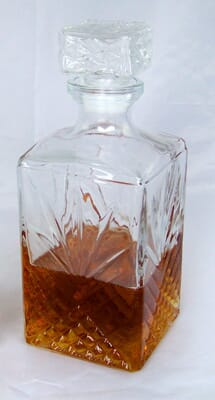 Fake Whiskey in Decanter - Props America