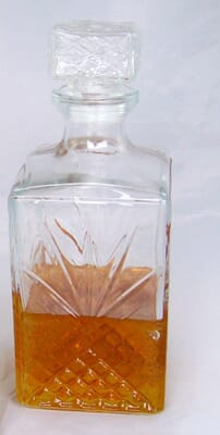 Fake Scotch in Decanter