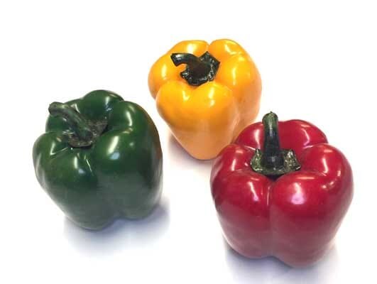 Multi Colored Artificial Bell Peppers Set of 3 or 6