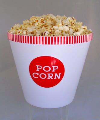Large Bowl of  Fake Popcorn