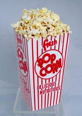 Fake Popcorn Box