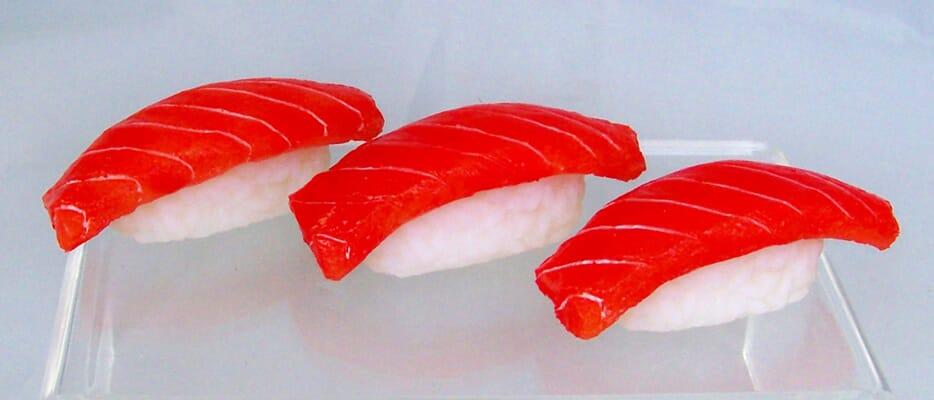 Fake Sushi Salmon on Rice