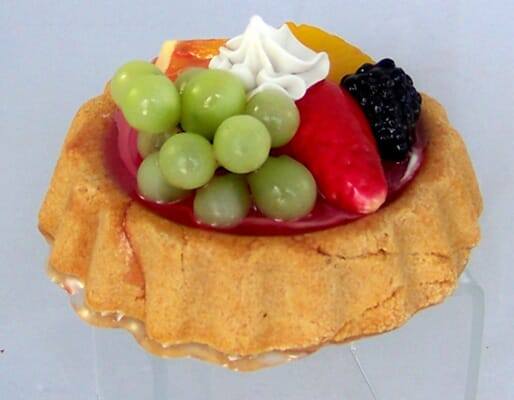 Fake Small Assorted Fruit Tart