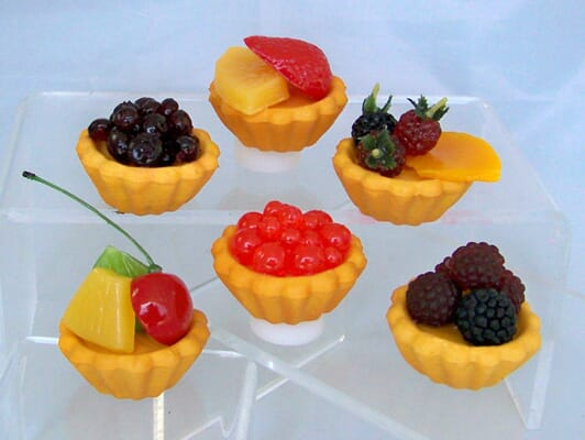 Fake Micro Mini Fruit Tarts (Set of 6)