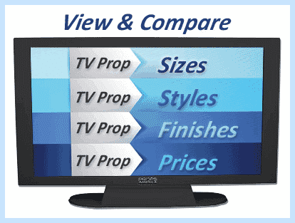 Prop TVs Size & Style Guide