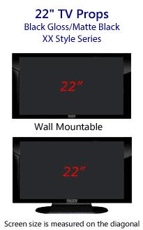 22 Inch Prop TVs Gloss Black
