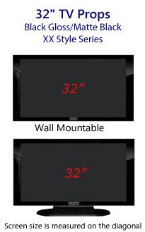 32 TV Props - Plasma TV Style in Gloss Black/Matte Black
