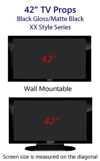 42 TV Props - Plasma TV Style in Gloss Black/Matte Black