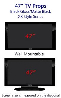 47 TV Props - Plasma TV Style in Gloss Black/Matte Black
