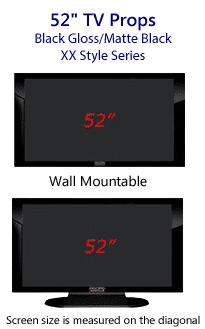 52 TV Props - Plasma TV Style in Gloss Black/Matte Black